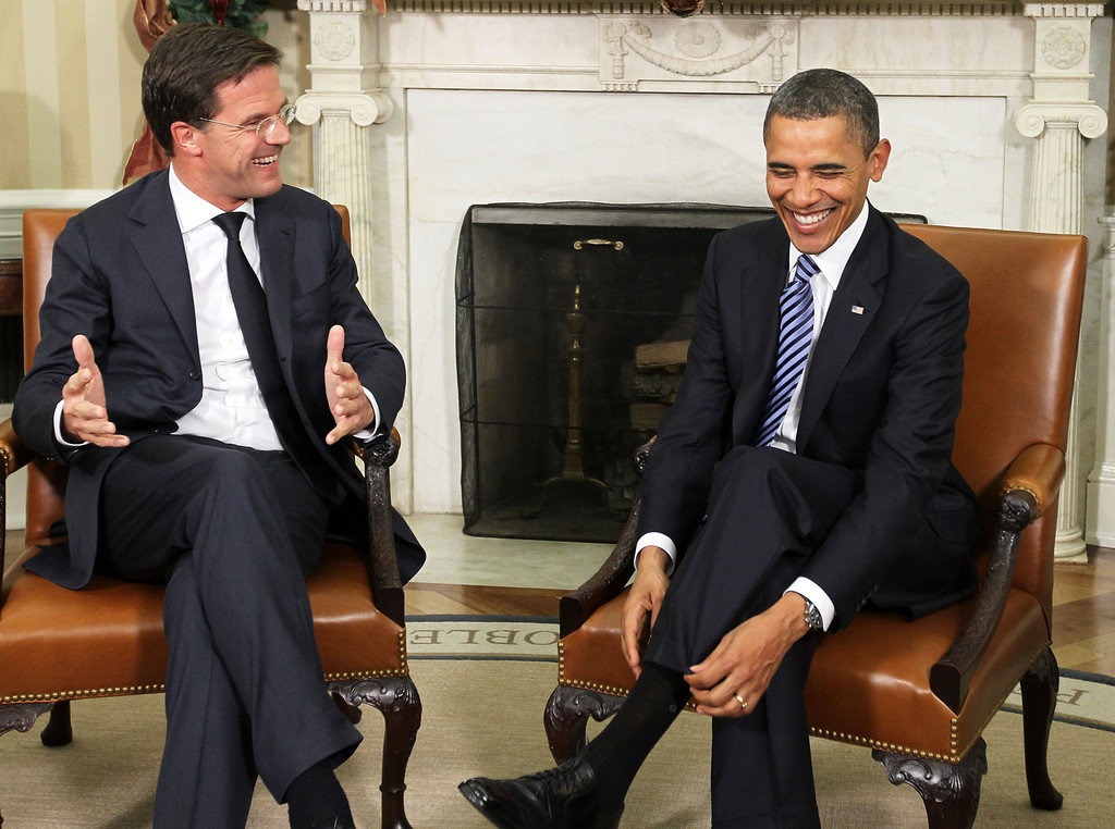 Maurits Hendriks Netherlands Prime Minister Mark Rutte L: President Obama Meets With