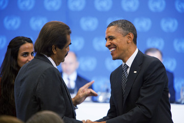 Hamad bin Khalifa al-Thani President Obama Meets With President Of National Transitional Council Of Libya At The UN
