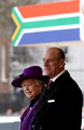 Prince Philip, Duke of Edinburgh and HM Queen Elizabeth II wait to greet South African President Jacob Zuma during a ceremonial welcome on Horseguards Parade on March 3, 2010 in London, England. The South African Leader is on a three day State visit to Britain.