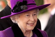HM Queen Elizabeth II smiles during a ceremonial welcome for South African President Jacob Zumaon Horseguards Parade on March 3, 2010 in London, England. The South African Leader is on a three day State visit to Britain.