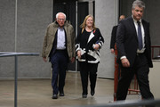 Democratic presidential candidate Sen. Bernie Sanders (I-VT) and his wife Jane O'Meara Sanders arrive for a campaign rally at the Roy Wilkins Auditorium March 02, 2020 in St. Paul, Minnesota. h. Sanders is campaigning in Utah and Minnesota the day before Super Tuesday, when 1,357 Democratic delegates in 14 states across the country will be up for grabs.