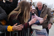 Democratic presidential candidate Sen. Bernie Sanders (I-VT) poses for a selfie with a supporter at the conclusion of a campaign rally in the Central Mall of the Utah State Fair Park March 02, 2020 in Salt Lake City, Utah. Sanders is campaigning in Utah and Minnesota the day before Super Tuesday, when 1,357 Democratic delegates in 14 states across the country will be up for grabs.