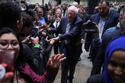 Democratic presidential candidate Sen. Bernie Sanders (I-VT) shakes hands with supporters as he leaves a campaign rally at the Roy Wilkins Auditorium March 02, 2020 in St. Paul, Minnesota. Sanders is campaigning in Utah and Minnesota the day before Super Tuesday, when 1,357 Democratic delegates in 14 states across the country will be up for grabs.
