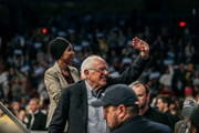 Democratic presidential candidate Sen. Bernie Sanders (I-VT) waves to the crowd at a campaign rally at the University of Minnesotas Williams Arena on November, 3, 2019 in Minneapolis, Minnesota. Over 10,000 people attended the rally, where Sanders was joined by Democratic Representative Ilhan Omar.