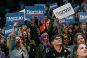 Supporters of Democratic presidential candidate Sen. Bernie Sanders (I-VT) cheer at the University of Minnesotas Williams Arena on November, 3, 2019 in Minneapolis, Minnesota. Sanders was joined at the rally by Democratic Representative Ilhan Omar, who praised the Senator's policy proposals of comprehensive immigration reform and support for unions.