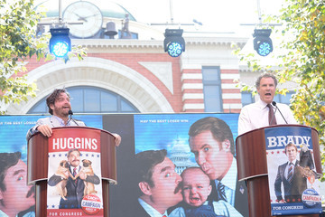 """Will Ferrell Zach Galifianakis Press Conference For The Launch Of Warner Bros. Pictures' """"The Campaign"""" Whistle Stop Tour"""