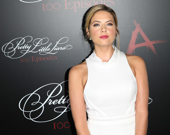Actress Ashley Benson attends the 'Pretty Little Liars' 100th episode celebration at W Hollywood on May 31, 2014 in Hollywood, California.