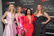 (L-R) Kelly Rutherford, Hayley Erin, Janel Parrish, and Sasha Pieterse arrive at the 'Pretty Little Liars: The Perfectionists' premiere at Hollywood Athletic Club on March 15, 2019 in Hollywood, California.