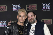 Frankie Grande and Chad McMillan attend Preview Of Rock of Ages Hollywood At The Bourbon Room on December 18, 2019 in Hollywood, California.
