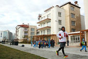 Speed Skater Keiichiro Nagashima of Japan jogs ahead of the Sochi 2014 Winter Olympics at the Athletes Olympic Village on February 4, 2014 in Sochi, Russia.