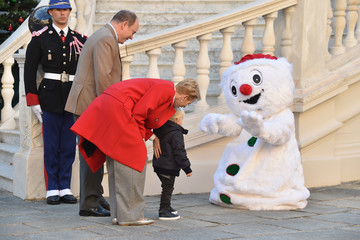Prince Albert II Christmas Gifts Distribution At Monaco Palace in Monte-Carlo