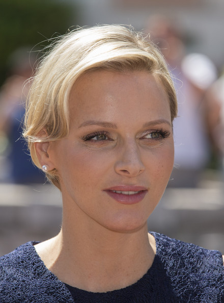 Princess Charlene of Monaco inaugurates New Hall of La Condamine Market at Place d'Armes on June 15, 2012 in Monaco, Monaco.