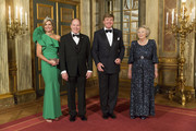 (L-R) Queen Maxima of The Netherlands, King Willem-Alexander of The Netherlands, Prince Albert II of Monaco and Princess Beatrix of The Netherlands pose for the official photo at the Loo Palace on June 3, 2014 in Apeldoorn, Netherlands.