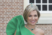 Queen Maxima of The Netherlands arrives for dinner at the Loo Royal Palace on June 3, 2014 in Apeldoorn, Netherlands.