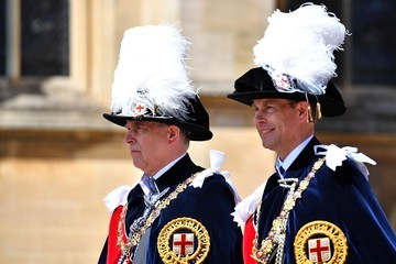 Prince Andrew Prince Edward Order Of The Garter Service