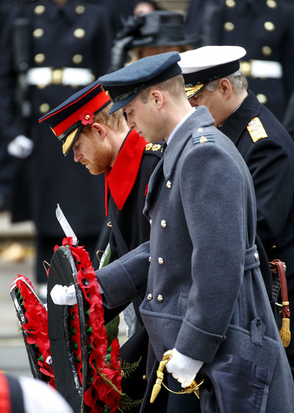 The Royal Family Lay Wreaths at the Cenotaph on Remembrance Sunday
