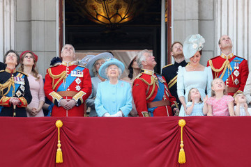 Prince Andrew Princess Beatrice HM The Queen Attends Trooping The Colour