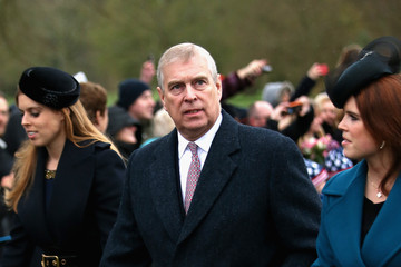 Prince Andrew The Royal Family Attend Church On Christmas Day