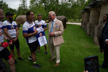 """Prince Charles The Prince Of Wales Supports BAT's """"Palaces On Wheels"""" Sponsored Bike Ride"""