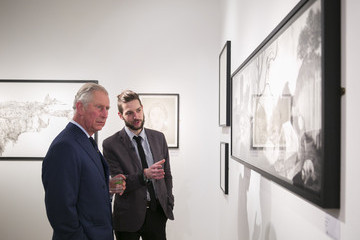 Prince Charles The Prince of Wales Attends the Royal Drawing School Exhibition
