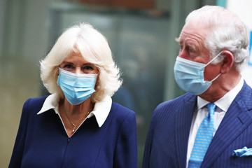 Prince Charles Camilla Parker Bowles Prince Of Wales And Duchess Of Cornwall Undertake Engagements In London To Thank Those Involved In The COVID-19 Vaccine Rollout