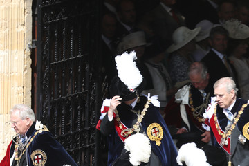 Prince Charles Earl Of Wessex Order Of The Garter Service