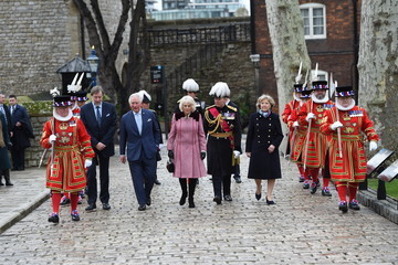 Prince Charles The Prince Of Wales And The Duchess Of Cornwall Visit The Tower of London