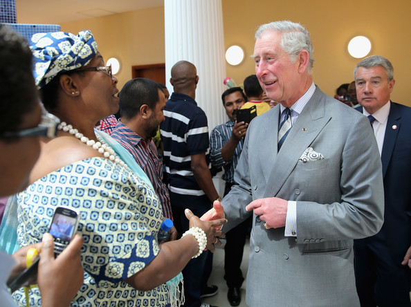 Prince Charles, Prince of Wales meets members of the public outside the Church of the Epiphany on February 21, 2014 in Doha, Qatar. The Prince is on a three day solo visit to Qatar following a short visit to Saudi Arabia.