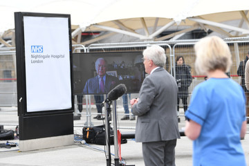 Prince Charles NHS Nightingale Hospital Is Officially Opened To Treat Coronavirus Patients