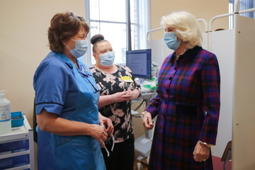 Prince Charles The Prince Of Wales And The Duchess Of Cornwall Visit The Queen Elizabeth Hospital, Birmingham