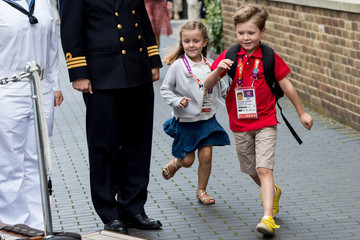 Prince Christian of Denmark Queen Margareth of Denmark Hosts an Olympic Reception For The Danish Olympic Team