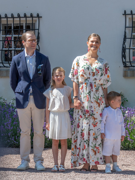 The Crown Princess Victoria Of Sweden's Birthday Celebrations [victoria,family,people,event,family,vacation,child,grandparent,sweden,borgholm,solliden palace,oland,birthday celebrations,birthday celebrations]
