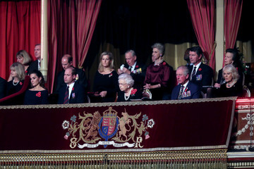 Prince Edward Prince Charles The Queen And Members Of The Royal Family Attend The Royal British Legion Festival Of Remembrance