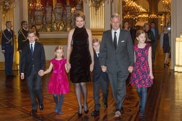 Prince Gabriel Belgian Royal Family Attends Christmas Concert
