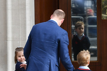 Prince George The Duke & Duchess Of Cambridge Depart The Lindo Wing With Their New Son