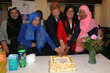 Prince Harry Britain's Prince William, Duke of Cambridge Visits the Muslim Cultural Heritage Center