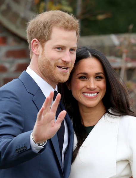 Announcement of Prince Harry's Engagement to Meghan Markle [smile,beauty,suit,formal wear,girl,outerwear,fun,tuxedo,event,white collar worker,harry,meghan markle,engagement,engagement,the sunken gardens,kensington palace,england,london,announcement,photocall]
