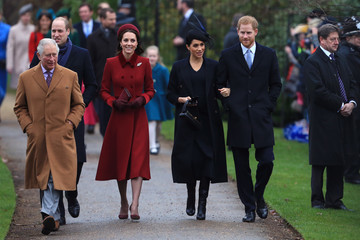 Prince Harry Prince Charles The Royal Family Attend Church On Christmas Day