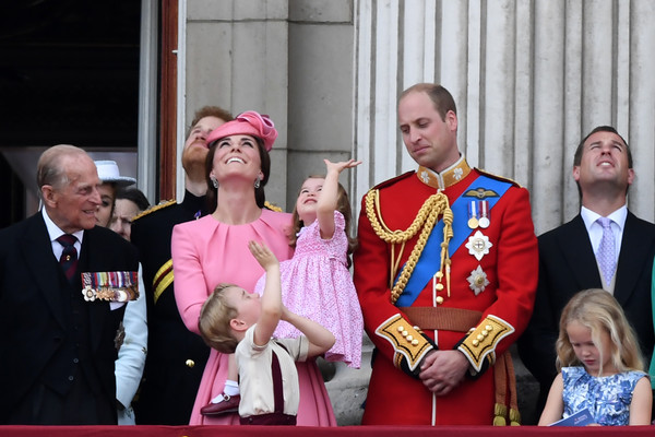 Prince Harry and Prince Philip Photos Photos - Trooping the
