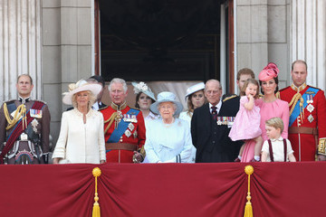 Prince Harry Princess Eugenie Trooping the Colour 2017