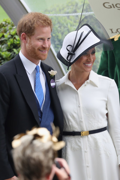 Royal Ascot 2018 - Day 1 [suit,formal wear,event,fashion,tuxedo,ceremony,smile,tradition,official,girl,ascot,duchess,sussex,united kingdom,ascot racecourse,duke of sussex,harry,meghan]