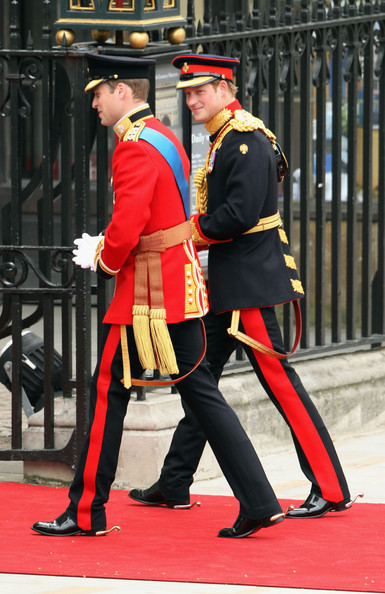 Prince Harry Prince William (L) arrives with Prince Harry for the Royal Wedding of Prince William to Catherine Middleton at Westminster Abbey on April 29, 2011 in London, England. The marriage of the second in line to the British throne is to be led by the Archbishop of Canterbury and will be attended by 1900 guests, including foreign Royal family members and heads of state. Thousands of well-wishers from around the world have also flocked to London to witness the spectacle and pageantry of the Royal Wedding.