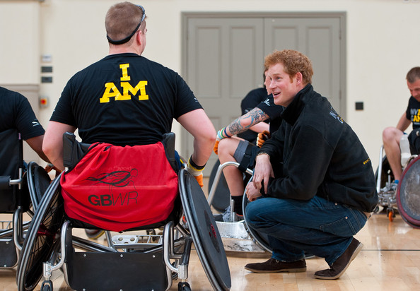Prince Harry Prince Harry (R) meets veteran Charlie Walker (L) at the launch of the Invictus Games selection process at Tedworth House on April 29, 2014 in Tidworth, Wiltshire, England.