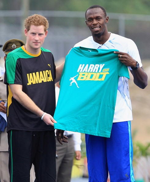 Usain Bolt In Prince Harry Tours Jamaica To Mark Queen