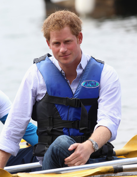 Prince Harry  takes part in a canoe therapy session on Lake Paranoa on June 23, 2014 in Brasilia, Brazil.  Prince Harry is on a four day tour in Brazil that will be followed by two days in Chile.