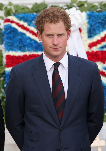 Prince Harry after laying a wreath at the monument to the founding Father of Chile Bernando O'Higgins on June 27, 2014 in Santiago, Chile.  Prince Harry is on a three day tour of Chile after visiting Brazil.