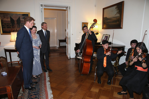 Prince Harry attends a Queen's Birthday Party event at the British Ambassador's Residence on June 27, 2014 in Santiago, Chile.  Prince Harry is on a three day tour of Chile after visiting Brazil.