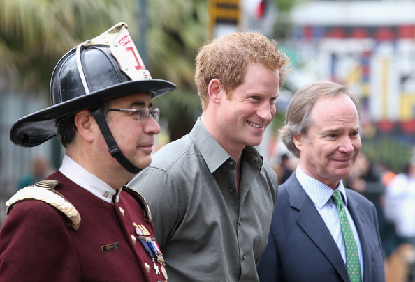 Prince Harry visits Valpariso Firestation on June 28, 2014 in Valpariso, Chile. Firefighters from Valpariso were involved in dealing with the devastating forest fires that hit the area in April. Prince Harry is on a three day tour of Chile after visiting Brazil.