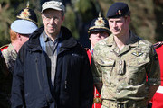 President of Estonia Toomas Hendrik Ilves stands next to Prince Harry as they pose for a photograph during a NATO Military Training Exercise 'Steadfast Javelin One' on May 17, 2014 in Otepaa, Estonia. Prince Harry is on the second day of a two day trip to Estonia.