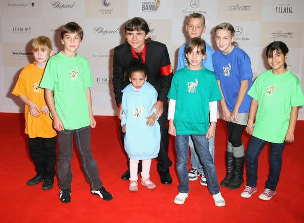 Prince Michael Jackson Prince Michael Jackson poses with kids upon his arrivat at Tribute to Bambi 2011 at the Station on September 23, 2011 in Berlin, Germany.